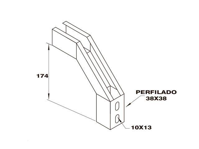 Curva vertical externa para perfilado