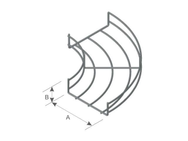 Curva horizontal 90º