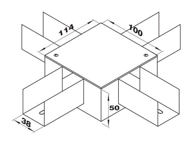 """Caixa de derivação """"X"""""""