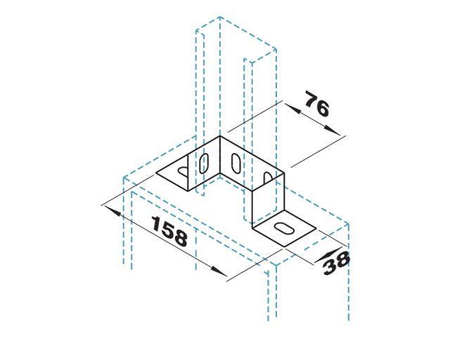 Base dupla para ligação em painel